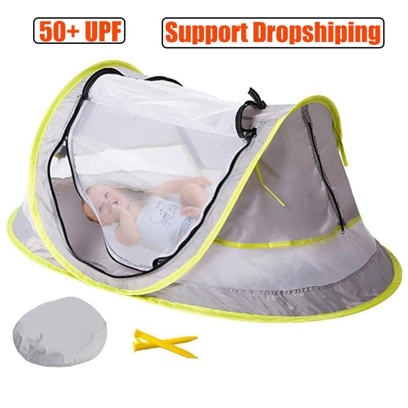 Детская Пляжная палатка с защитой от УФ-лучей, складная детская палатка с москитной сеткой, портативная Пляжная палатка для кемпинга