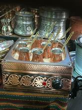 Pour USA utiliser 110 volts turc cuivre chaud sable cafetière brasseur + 5 cafetières