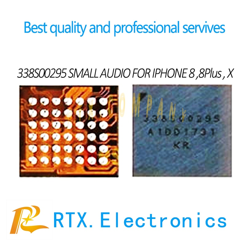 1-100pcs 338S00295 for iPhone 8 8Plus X 10 small audio IC microphone sound controller speaker amplie