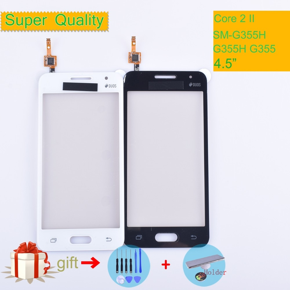 for samsung galaxy core 2 g355 lcd touch screen sm g355h g355h duos digitizer sensor glass display touch panel white black mqnlq G355 For Samsung Galaxy Core 2 II SM-G355H G355H G355 G355M Touch Screen Panel Sensor Digitizer Glass Touchscreen NO LCD