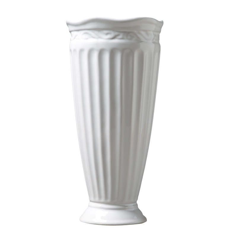 Creative fashion modern minimalist white ceramic vase flower vase A974 living room decoration Home Furnishing wholesale