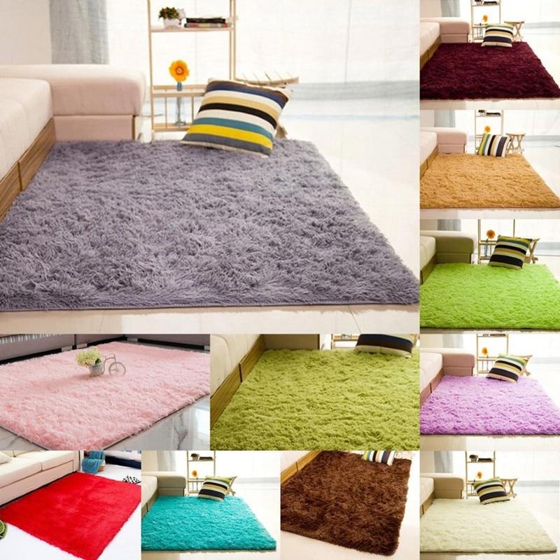 Plush Soft Shaggy Alfombras Carpet Faux Fur Area Rug Non-slip Floor Mats For Living Room Bedroom Home Decoration Supplies