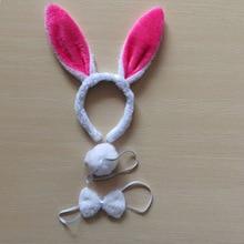 1sat =3pcs Children adult Bunny Ear Headband Set Black pink white blue Fancy Dress Costume Hen Party