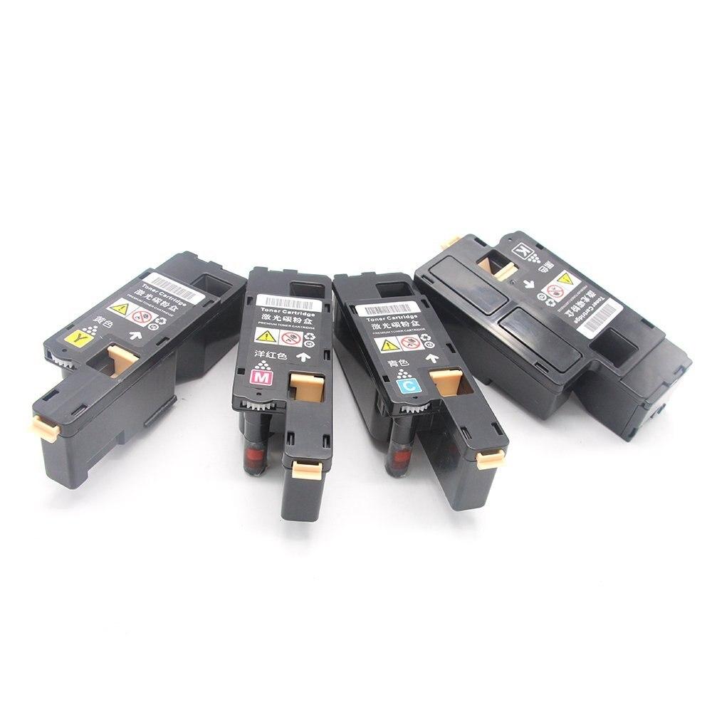 4 Uds CP105 CM205 cartucho de tóner de Color Compatible con Fuji, Xerox Docuprint CP215 CP215W CM215f CM215fw CM215b CP105b CP205 CM205fw