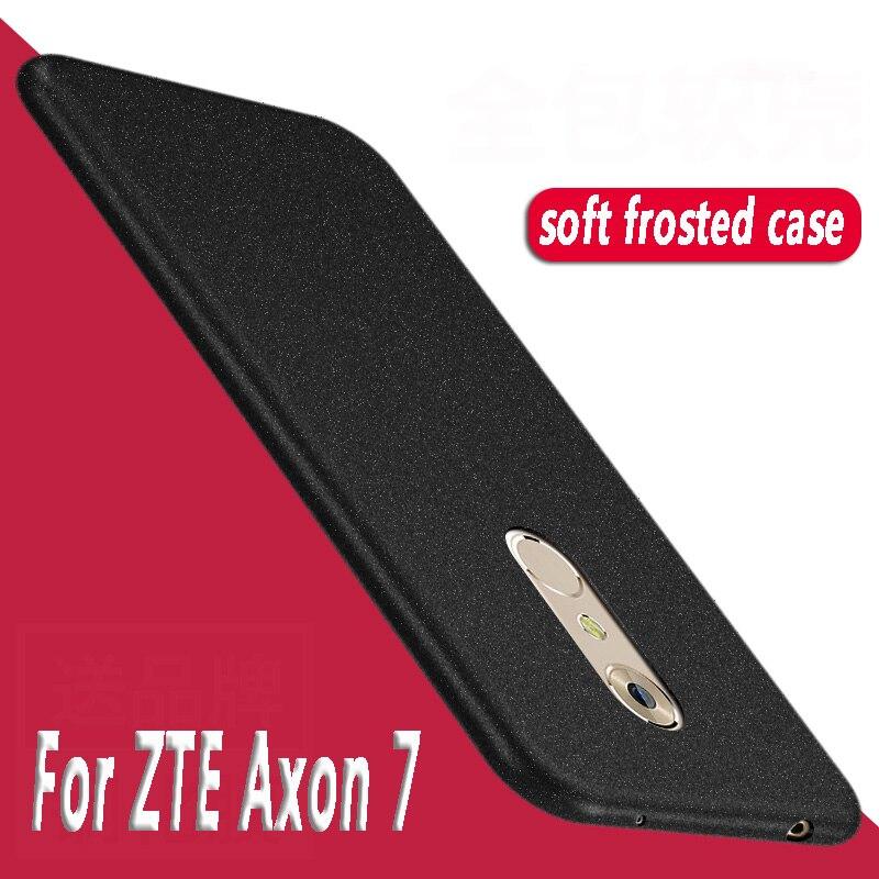 Para ZTEAxon 7 funda de silicona arenisca suave Tpu protector trasero de teléfono cubierta en ZTE Axon 7 A2017 funda 5,5 suave y liso Axon 7 Cubierta