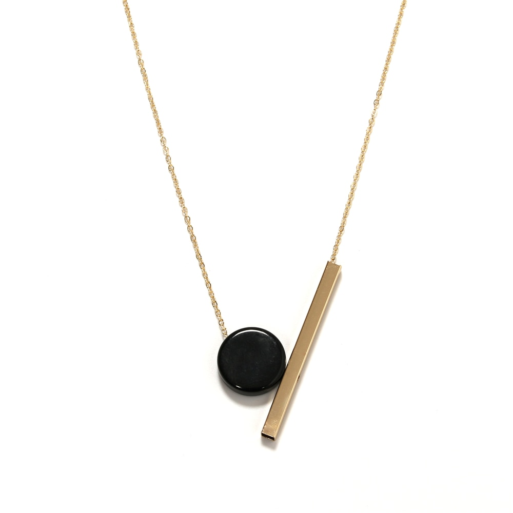 aliexpress.com - necklaces Ms contracted wind necklace Geometric circular wood combination pendant long necklace