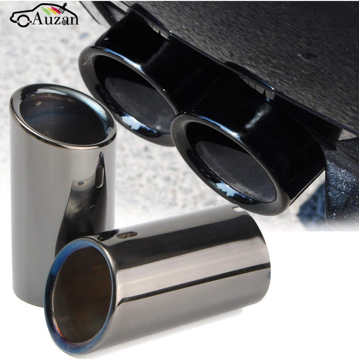 Пара автомобильных наконечников выхлопной трубы Титан Черный для BMW E90 E92 325 328i 3 серии 2006-2010 нержавеющая сталь
