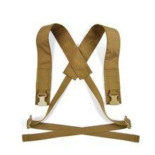 X suspensórios alças de ombro para d3crm haley chassis mk3 equipamento peito spiritus colete tático caça airsoft wargame TW-BT05