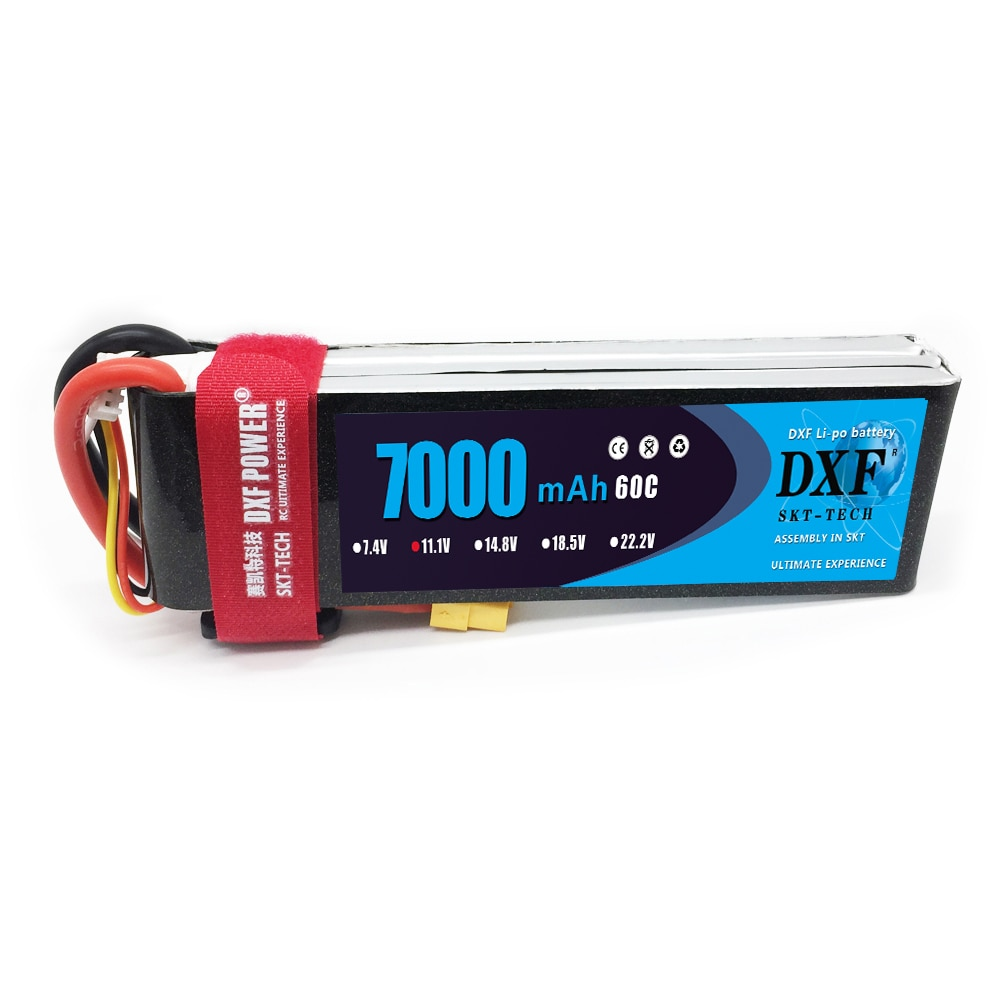 DXF 2PCS Lipo Battery 3S 4S 6S 11.1V 14.8V 22.2V 7000mah 60C Max120C for RC Helicopter Drone Car Boat Airplane Quadcopter enlarge