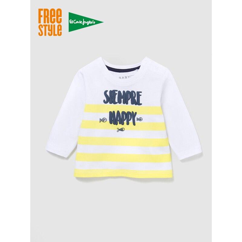 Фристайл для маленьких мальчиков белая футболка всегда радует с длинными