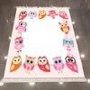 Autre plancher blanc coloré mignon hiboux rose cadres 3d microfibre anti-dérapant dos lavable décoratif Kilim enfants chambre tapis tapis