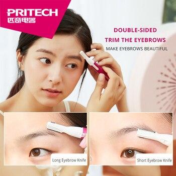 PRITECH Women Face Facial Body Hair Removal Fashion Designer Blade Lady Shaver Epilator Electric Trimmer Razor For Eyebrow #T9