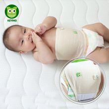 KEYING-Bellyband ajustable para bebé, banda de algodón a rayas para el ombligo, Protector suave para el ombligo, cinturón para la cintura, bandas para el vientre para bebé