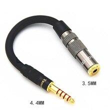 Equilibrada de ALTA FIDELIDADE 4.4 MILÍMETROS Adaptador De Fone de ouvido Cabo De Áudio de 4.4 a 3.5 milímetros 2.5 milímetros 6.35 milímetros 4 Pin XLR Macho para Fêmea Ângulo