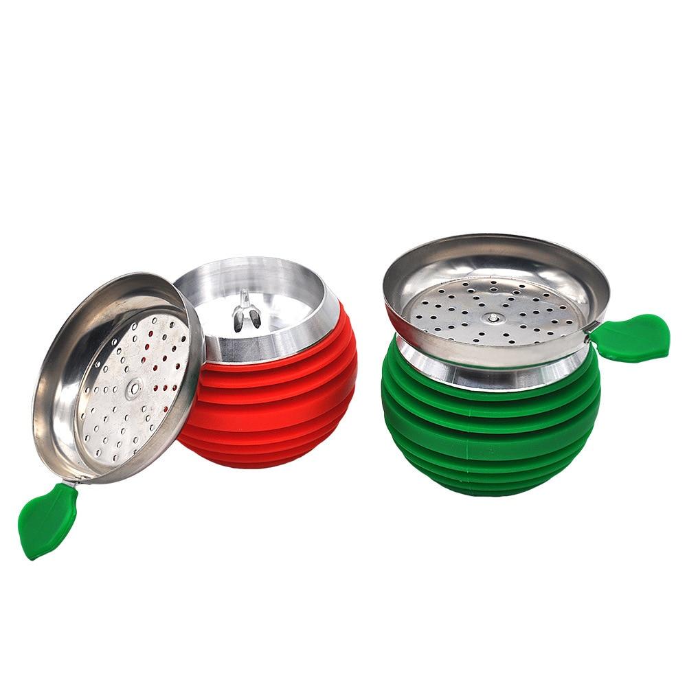 1 unids/lote de cuenco para pipa de agua, cuenco para pipa de agua, cuenco árabe para shisha y cachimba de silicona de alta temperatura, para quemador, accesorios de cuenco de silicona