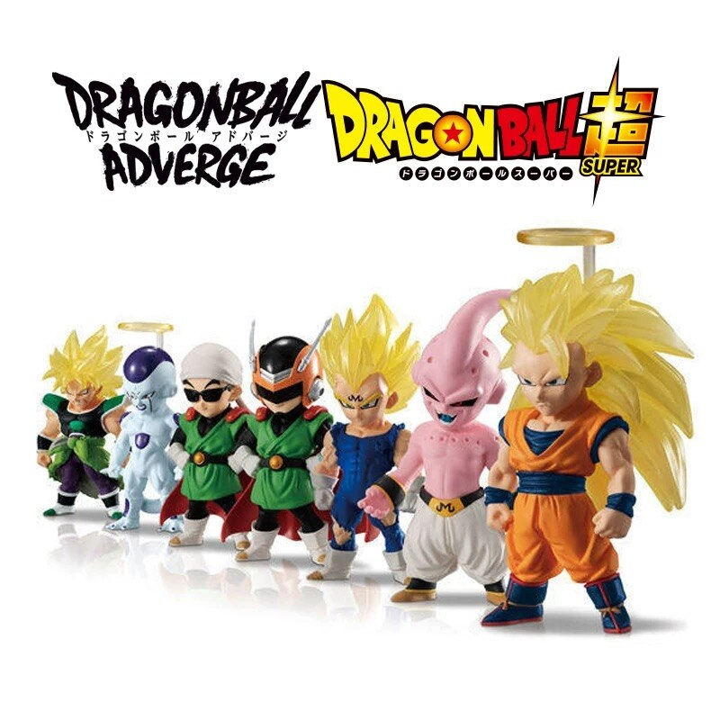 Figuras de acción de Dragon Ball Z, juguetes de PVC, 10 modelos de DBZ, Broly, Goku, Vegeta, Majin, Buu, Gohan, freezer