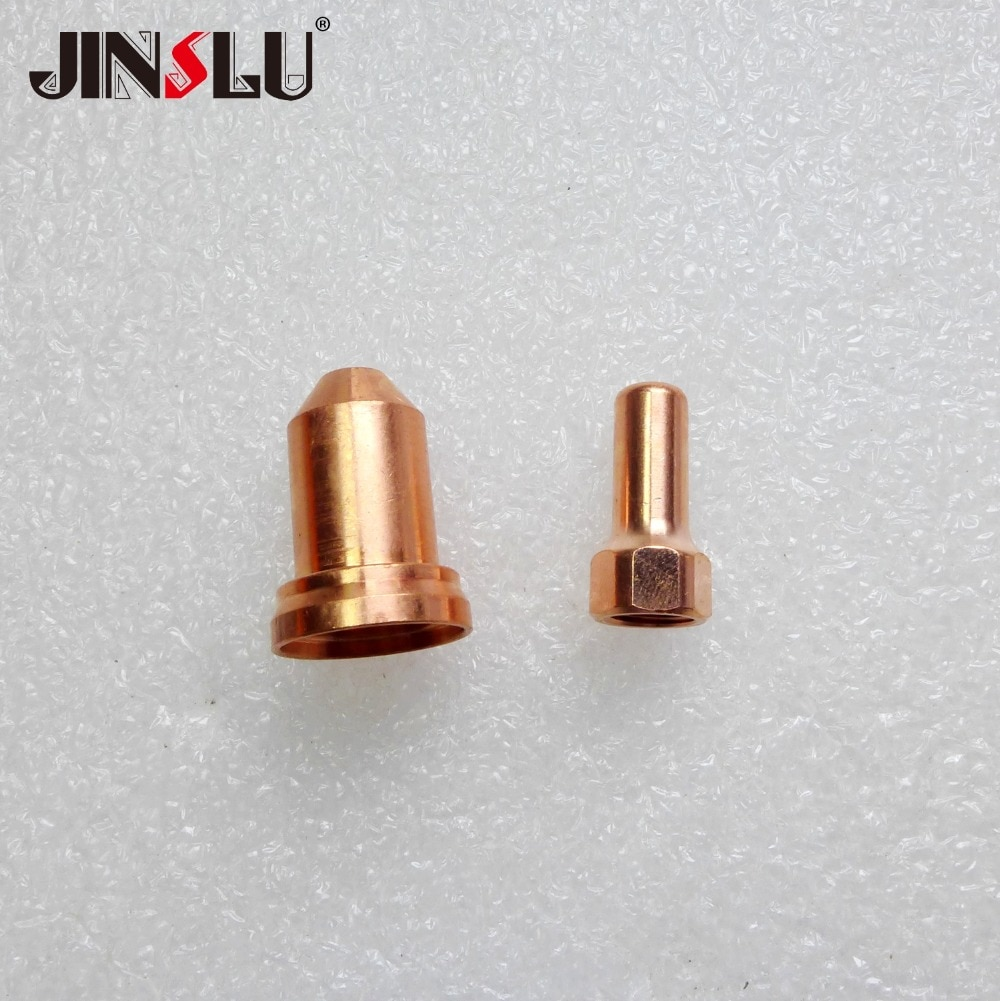 Расходные материалы для плазменной горелки PT80 PT-80 IPT80 электрод IVB0669/ 52558 10 шт. и сопло/наконечник 51311 (1,0 1,1 1,2 1,3 мм) 10 шт.