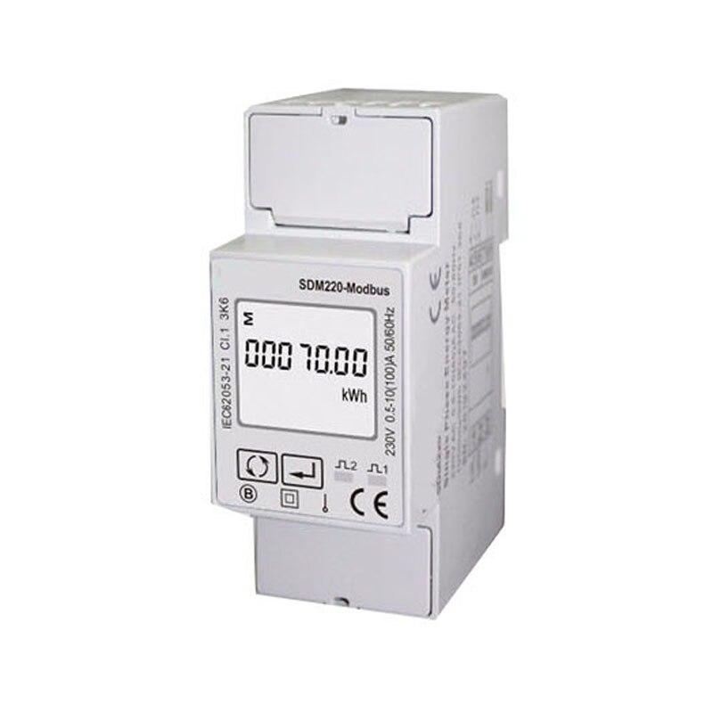 5 (100) однофазный 230В измеритель на din рейку, счетчик электроэнергии кВтч, многофункциональный счетчик энергии с RS485 Modbus SDM220 MODBUS