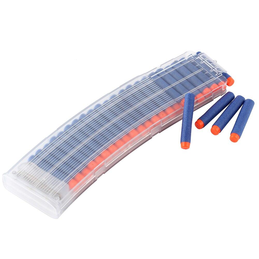 22 recargas Clips revistas dardos redondos repuesto 22 balas munición cartucho dardo para Nerf pinzas de armas revistas de plástico juguetes para niños