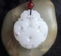 pure natural afghan white jadeite pendantgirls choker necklace pendant free shipping