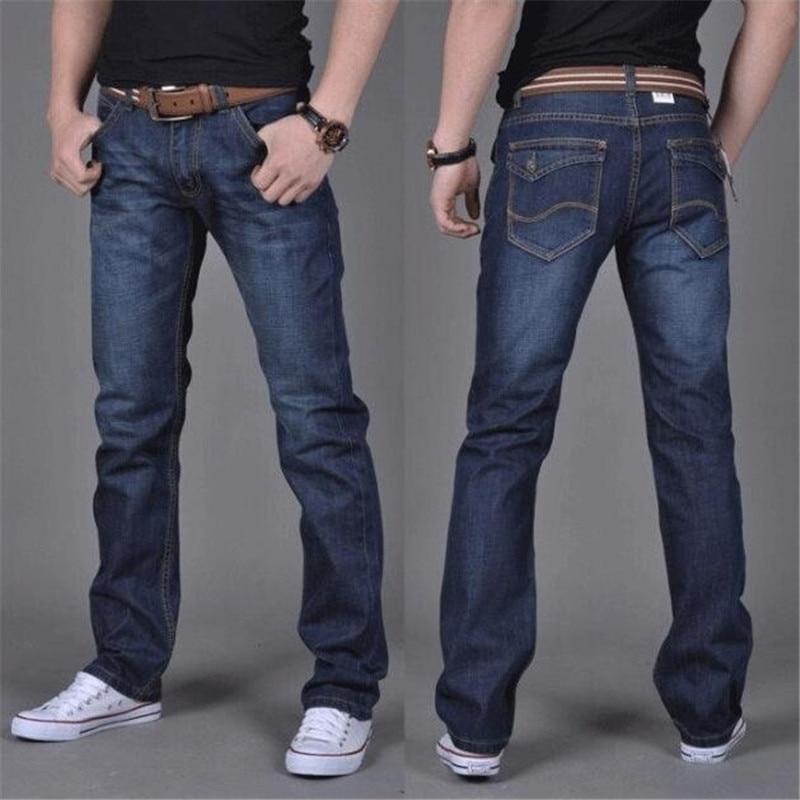 Брендовые новые мужские Модные джинсы Горячие Джинсы для молодых мужчин распродажа мужские брюки повседневные узкие дешевые прямые брюки ...