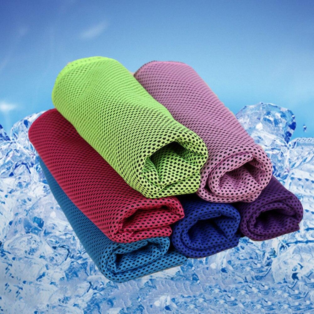 Nueva toalla deportiva fresca y transpirable, toalla refrescante instantánea, toalla deportiva de secado rápido para ejercicios de Fitness al aire libre, 90x30cm