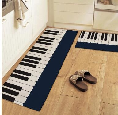 سجادة قطيفة مطبوعة على البيانو ، 50 × 80 سم ، سجادة داخلية غير قابلة للانزلاق ، ماصة للماء ، حصيرة الباب ، وسادة القدم