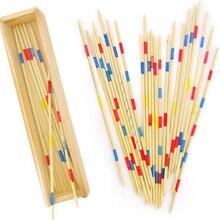 1 Set Spillikin Game Stick Baby Educatief Houten Traditionele Mikado Spiel Pick Up Sticks Met Doos Game Souptoys