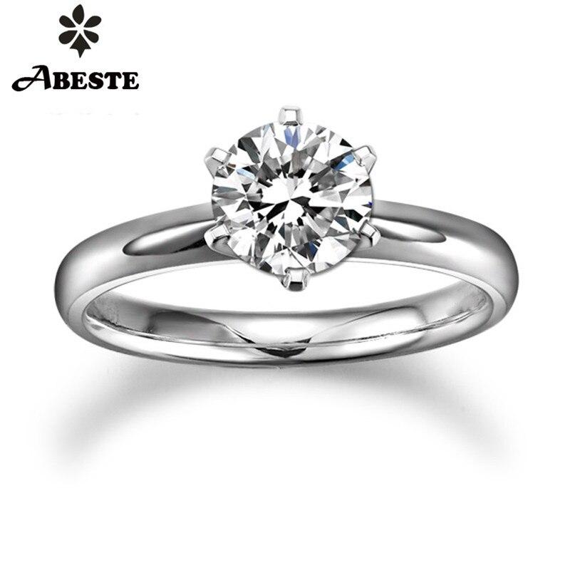 Anillo de boda para mujer ANI 18K blanco/amarillo/oro rosa (AU750) 0,2 CT H-I/SI Anillo de compromiso de diamante de corte redondo Natural Real