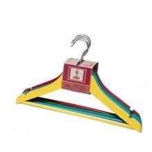 12 stücke in eine set bunte kleiderbügel für kinder holz racks für kleidung