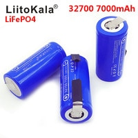 2020 LiitoKala 3.2V 32700 7000mAh 6500mAh LiFePO4 סוללה 35A רציף פריקה מרבי 55A גבוהה כוח סוללה + ניקל גיליונות