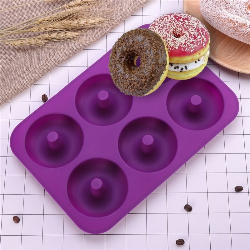 Rosquilla de silicona Donut Muffin de Chocolate Pan bandeja de hielo dulce pastel molde cocina casera suministros