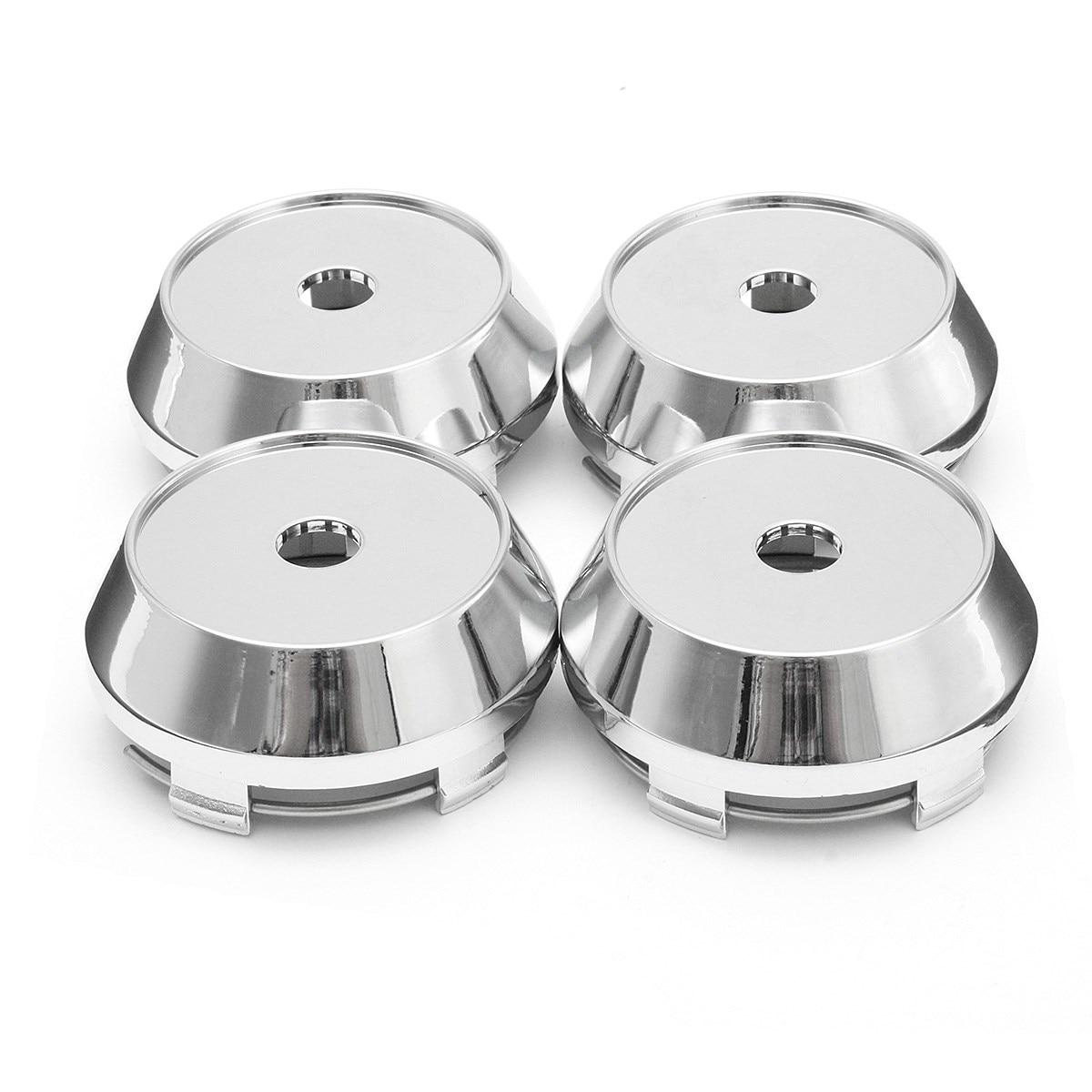 4 Pcs ein set 60mm Silber ABS Kunststoff Auto Räder Center Caps Hub Radkappe Emblem