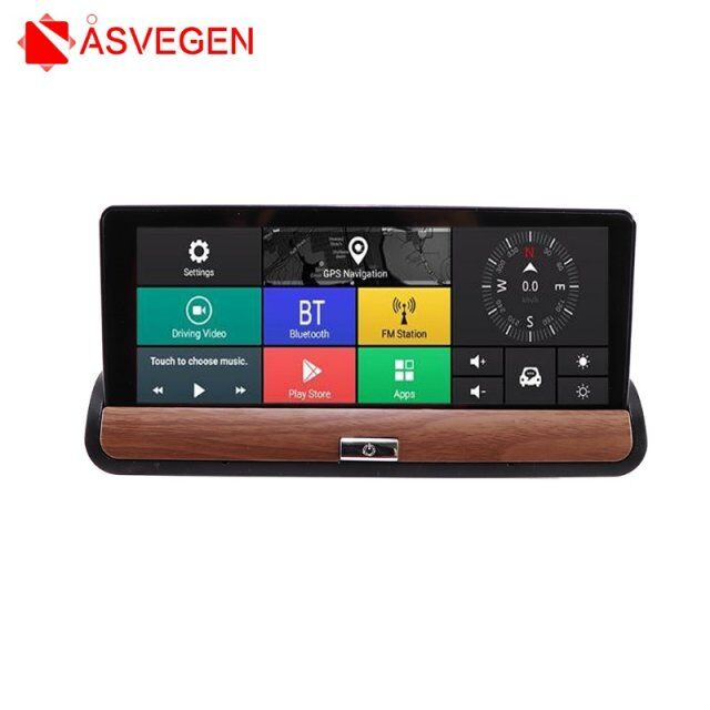3G coche DVR GPS navegación pantalla IPS 16G Auto Camara Android espejo...
