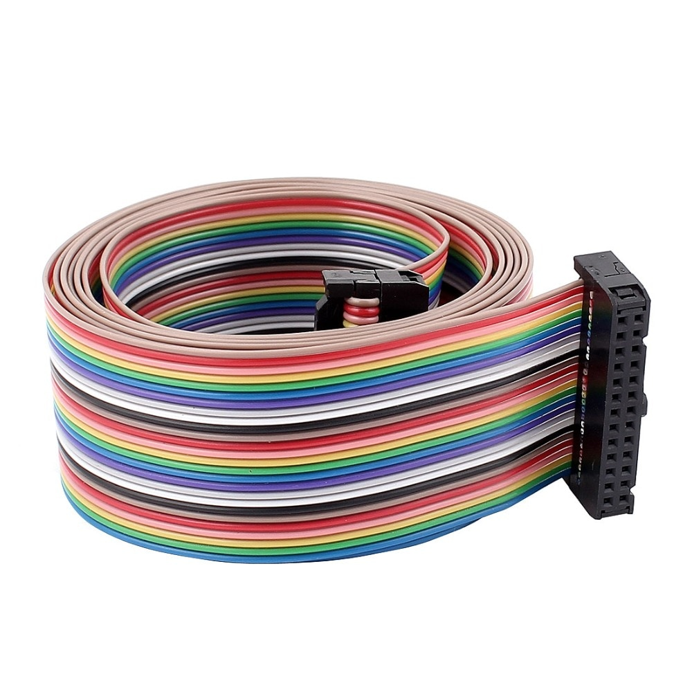 UXCELL 4.8ft 26 Pin 26 Way F/F IDC plano Arco Iris cinta Cable cableado accesorios equipos eléctricos suministros