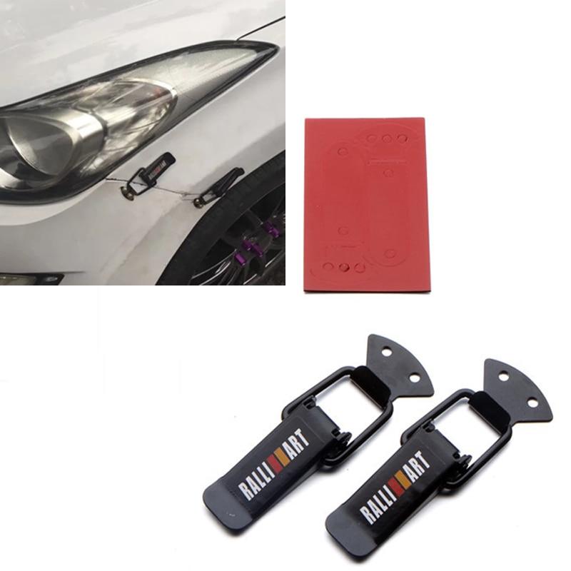 CHIZIYO Universal MOMO/Sportsline/Ralliart Security Kit Bumper Quick Release Hook Lock Clip For Racing Car