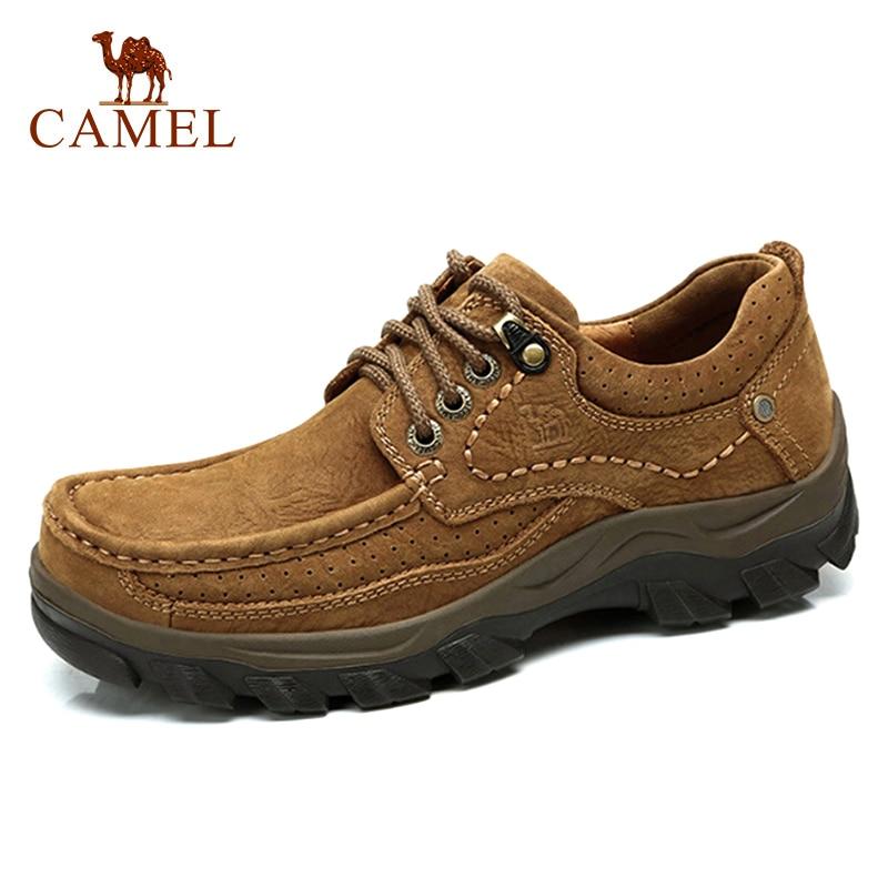 CAMEL-أحذية جلدية أصلية للرجال ، أحذية ذات علامة تجارية ، أحذية غير رسمية عصرية للرجال ، أحذية مسطحة بأربطة من جلد البقر