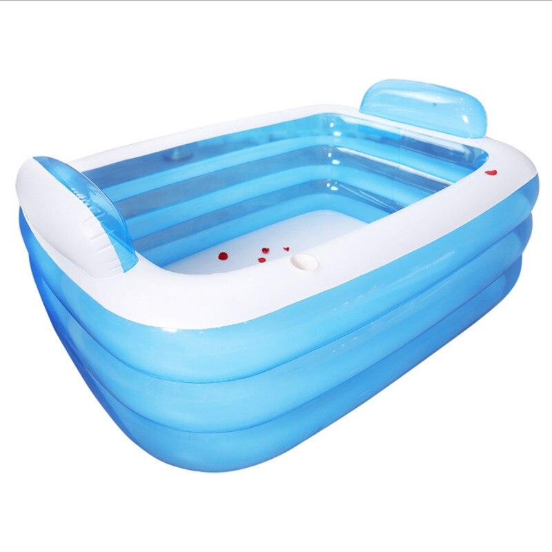 Bañera inflable grande doble para adultos, bañera de plástico portátil, bañera de hidromasaje de PVC, bañera inflable, bañera de Spa plegable
