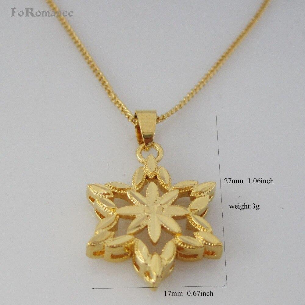"""Pedido mínimo 10 $ puede mezclar/-oro amarillo GP superposición 18 """"20"""" 24 """"Círculo enlace collar de cadena y forma de flor con colgante de seis ángulos"""