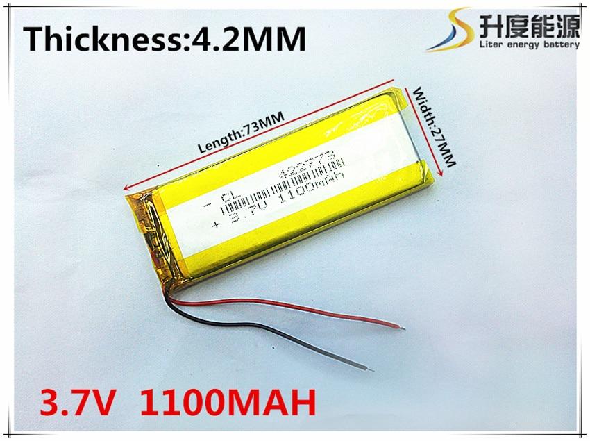 3,7 V, 1100 mAH, [422773] batería de polímero de iones de litio/Li-ion para juguete, banco de potencia GPS mp3... mp4 celular teléfono altavoz