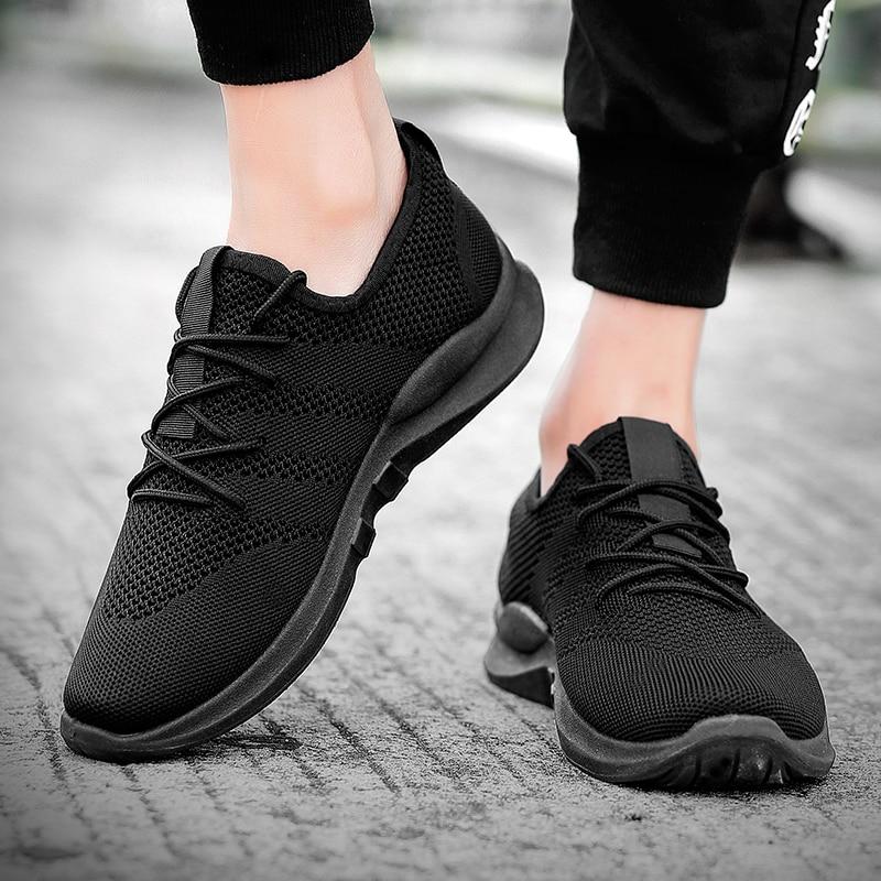 Sooneeya, nueva marca de zapatillas de deporte a la moda para hombre, zapatos casuales ligeros con cordones para hombre, calzado de malla al aire libre, calzado para entrenador de adultos Tenis
