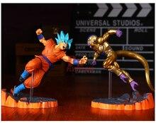 2pcs 15cm PVC DBZ final form Dragon ball Z Super golden frieza Figure SPECIAL super Saiyan God Songoku toy Manga Anime