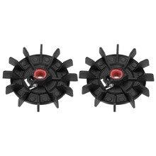 Uxcell 2Pcs 116x1 4Mm/120X15Mm Ronde Shaft Vervanging Zwart/Wit Plastic 12 Waaier aanpasbare Cooling Motor Fan Vaan