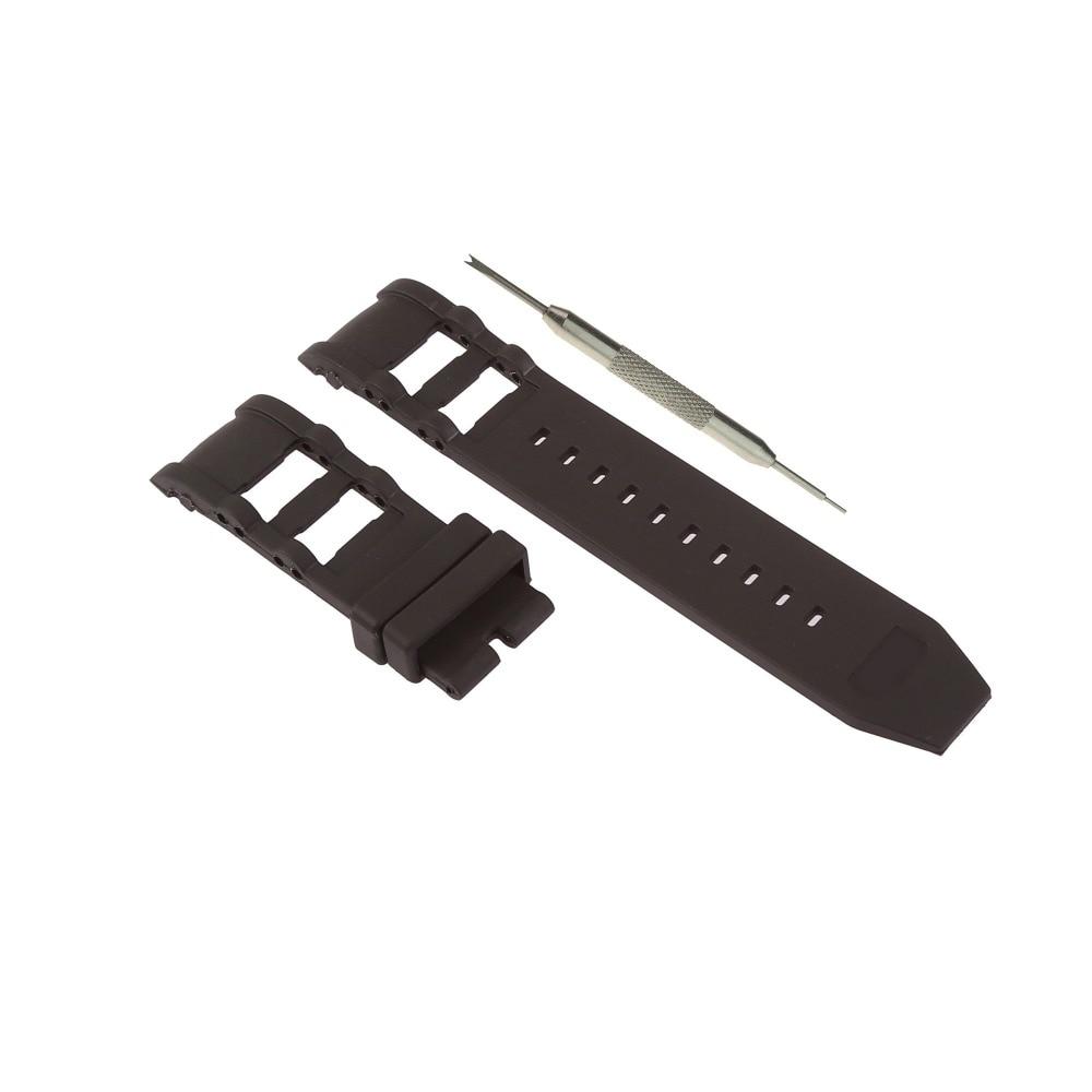 MDNEN 26mm Schwarz Gummi Uhr Band Ersatz Riemen Passt Für Invicta Russische Taucher + Freies Frühling Bar Werkzeug