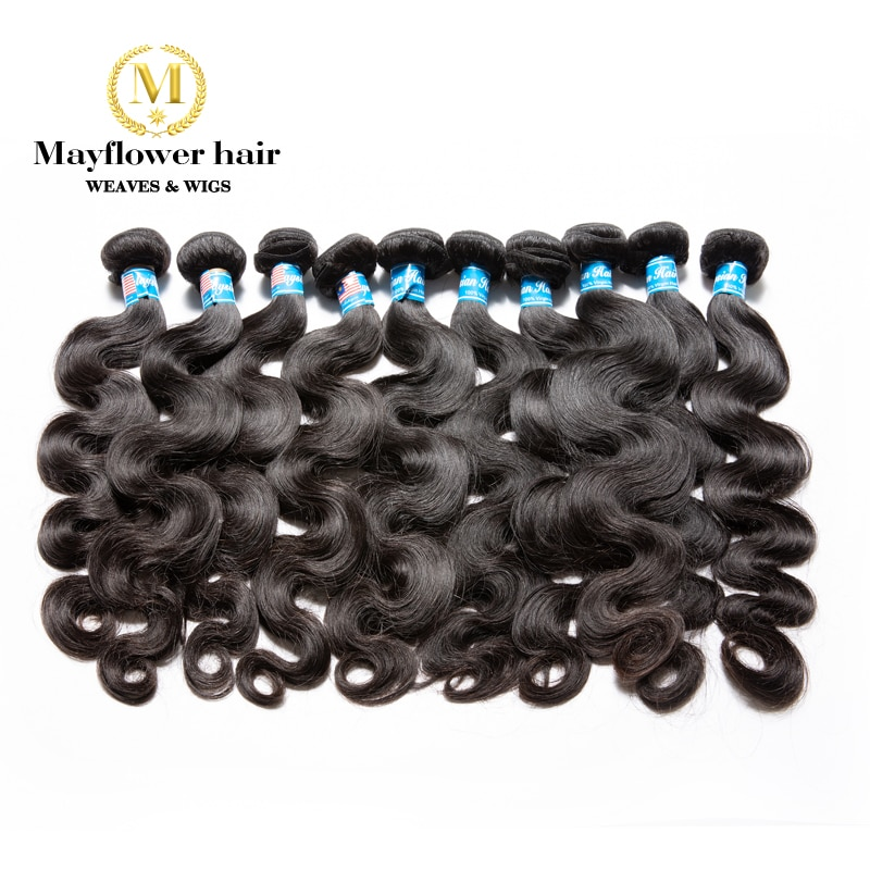 Mayflower 10 bundles  Malaysian body wave 100% Virgin hair weaves from 12-26
