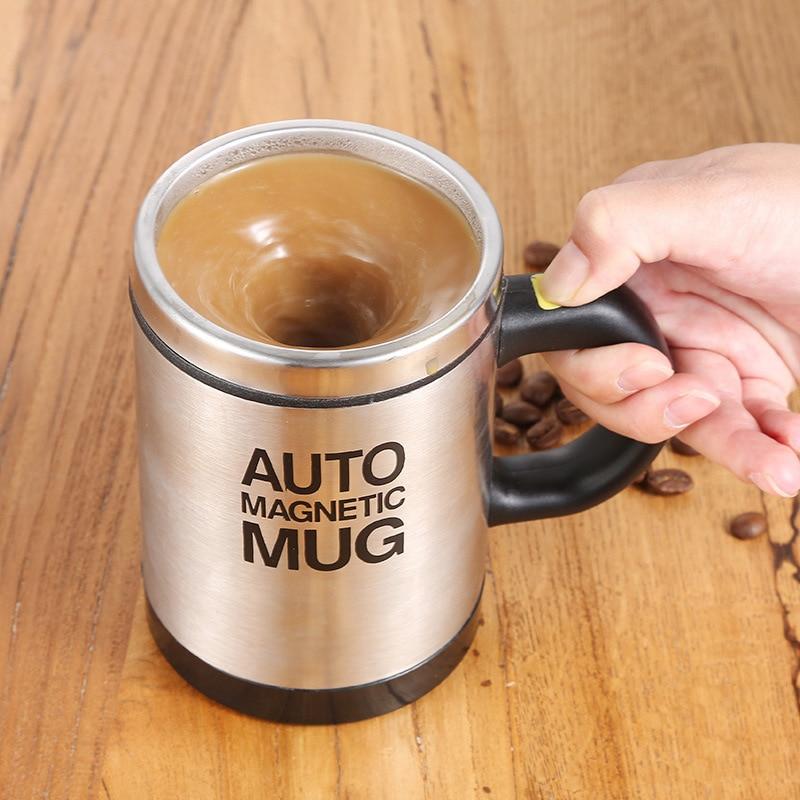 TG-moteurs tasse automatique café lait   Tasse à mélanger automatique, tasse thermique en acier inoxydable, tasse électrique Double intelligente
