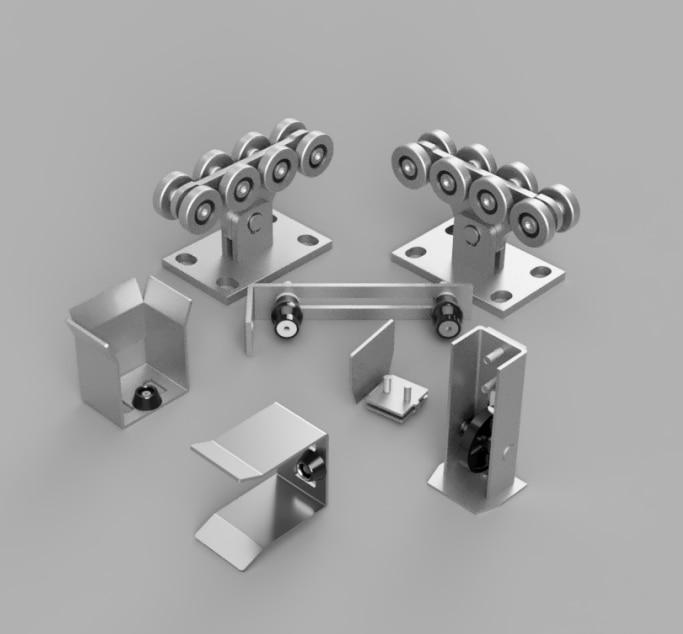 Sliding gates set KIT3 gate accessories cantilever gate roller sets Sliding Gate Rolls without track