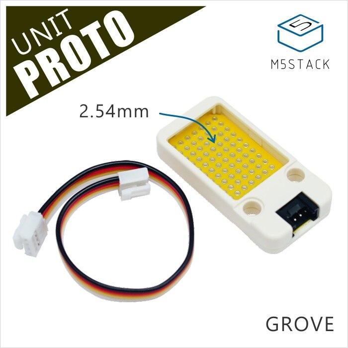 M5Stack oficial Mini prototipo de placa Unidad Universal prototipo de doble cara 2,54mm PCB Grove Port Compatible ESP32 Kit de desarrollo