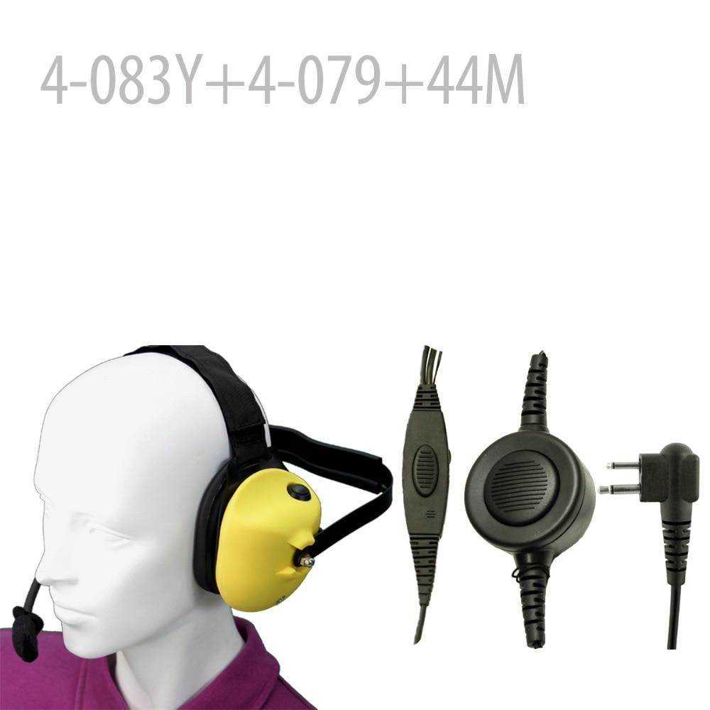 Heavy duty Noise reduction Headset(Y)+Mini Din Plug 44-M for CP88 CP100 CP150 CP200 CT150 CT250 FD-150A  FD-160A FD-460A