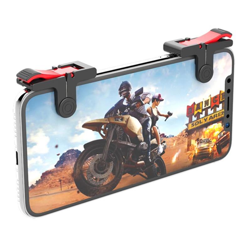 2PCS Joystick For PUBG Mobile Phone L1R1 Trigger Gamepad Linkage Aim Shooter Gaming Button Accessori